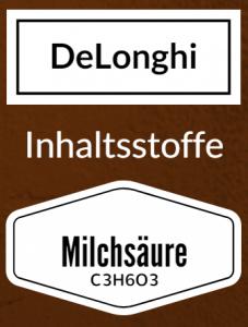 DeLonghi Ecodecalk besteht aus Milchsäure